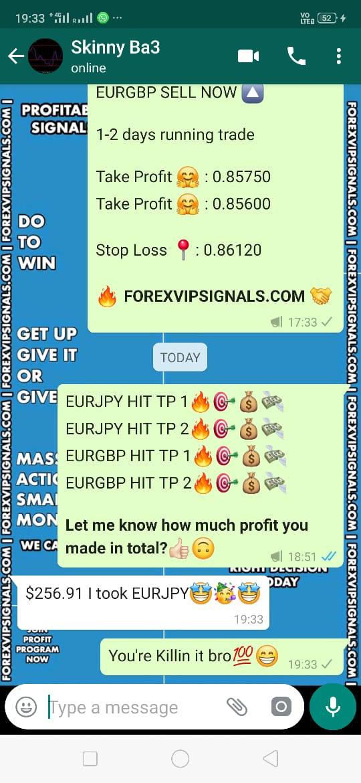 forex signal via whatsapp