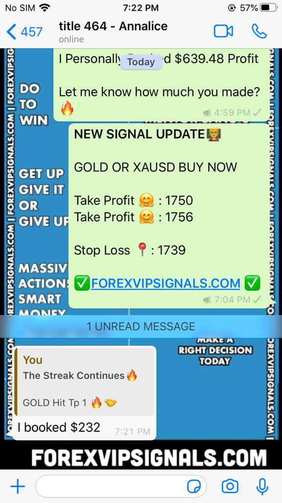 daily gold trading signals by forex vip signals