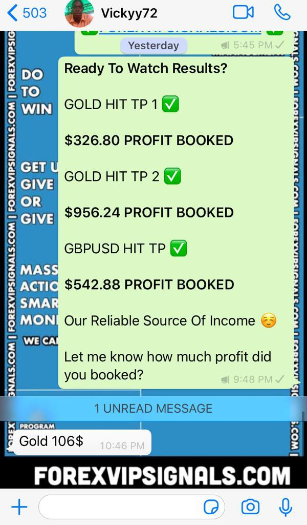 forex results by forex vip signals