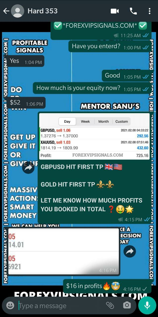 forex signal whatsapp group with forex vip signals