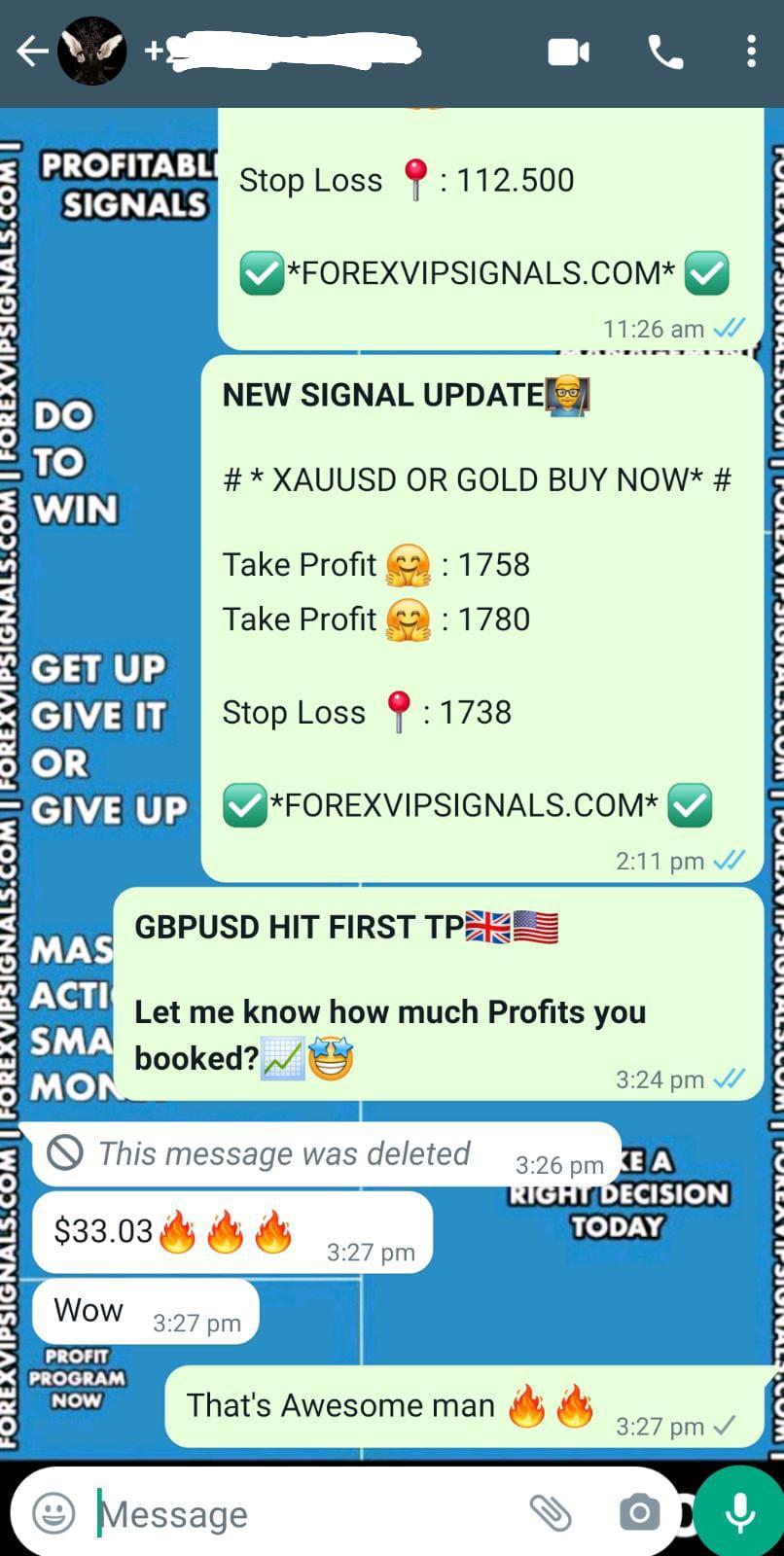 forex signals on whatsapp by forex vip signals