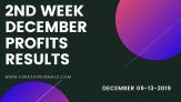 2ND WEEK DEC. FOREX SIGNALS FINAL REPORTS 2019